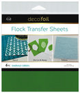 Emerald-Green-Flock-Transfer-Sheets