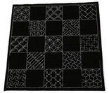 Sashiko-Pre-printed-Multi-Pattern-Cloth-Traditional-Designs-Navy