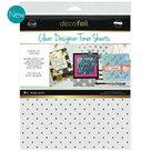 Polka dots clear toner sheets icraft