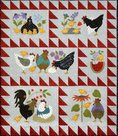 Here-a-Chick-There-a-Chickvolledig-voorgesneden-quilt-kit-m-voorgestreken-applicatievlies