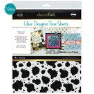 Splatter Clear toner sheets icraft
