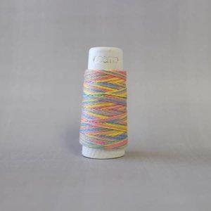 Rainbow Sorbet Cosmo Hidamari Sashiko Variegated Thread 30 Meters