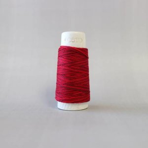 Cranberry Red Cosmo Hidamari Sashiko Variegated Thread 30 Meters
