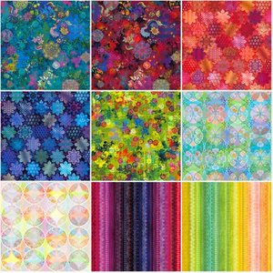 Fat Quarter Roll Flourish Digital, 10st