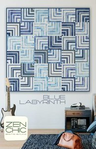 Blue Labyrinth - Zen Chic