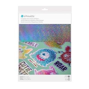 Printbaar Holografische Dots stickervellen SILHOUETTE