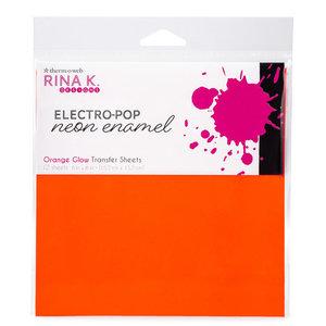 Orange Glow Transfer Sheets - Rina K. Neon Enamel