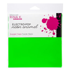 Screaming Green Transfer Sheets - Rina K. Neon Enamel