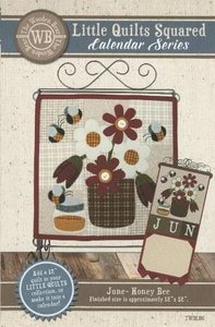 Little Quilts Squared June - Honey Bee