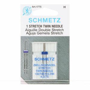 Schmetz Tweeling Stretch Machine Naald maat 4.0/75 1st.