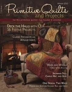 No 11 Winter 2013 - Primitive Quilts & Projects