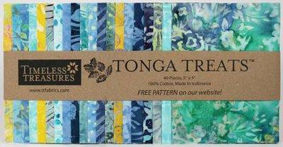5in Squares Tonga Batik Angelfish 40st