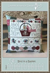 Bird In A Basket Pillow - Lynette Anderson