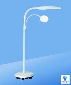 DAYLIGHT Vloer Lamp met wieltjes- Wit