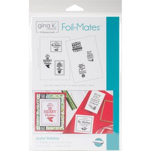 Joyful Holiday - Gina K. Designs Foil-Mates Backgrounds