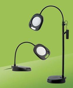 LED Vloerlamp Met Loep DAYLIGHT, Zwart