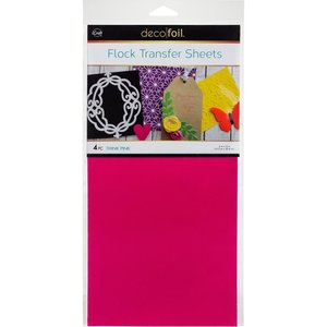 Think Pink Flock Transfer Sheets  - iCraft Deco Foil