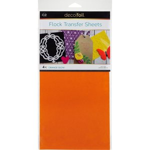Orange Glow Flock Transfer Sheets  - iCraft Deco Foil