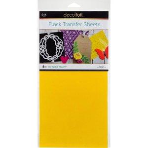 Sunshine Yellow Flock Transfer Sheets  - iCraft Deco Foil