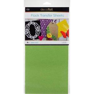 Green Envy Flock Transfer Sheets  - iCraft Deco Foil