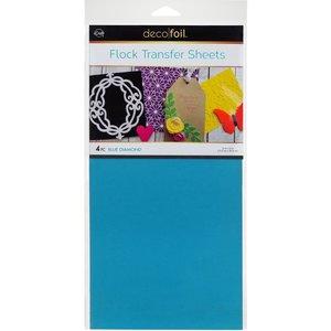 Blue Diamond Flock Transfer Sheets  - iCraft Deco Foil