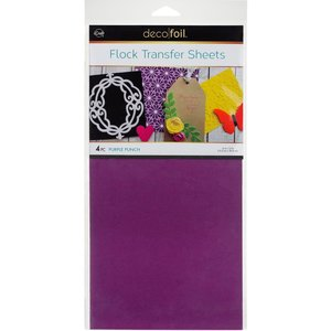 Purple Punch Flock Transfer Sheets  - iCraft Deco Foil