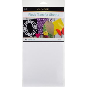 White Latte Flock Transfer Sheets  - iCraft Deco Foil