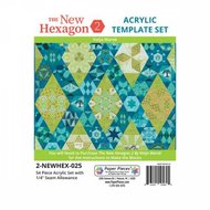 The New Hexagon 2: 54 Piece Template Set with 1/4in Seams