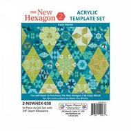 The New Hexagon 2: 54 Piece Template Set with 3/8in Seams
