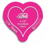 1-1/2in HomeMade Heart Acrylic Template with 1/4in Seam Allowance