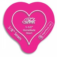 1-1/2in HomeMade Heart Acrylic Template with 3/8in Seam Allowance