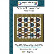 Stars Of Savannah Complete Pattern and Paper Piece Pack by Paper Pieces
