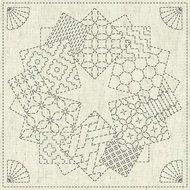 Sashiko Cloth Kaza-Guruma 1