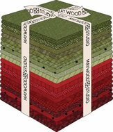 Fat Quarter Woolies Flannel Holiday Warmth, 20pcs