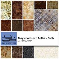Maywood Fat Quarter Java Batiks Earth 23pcs