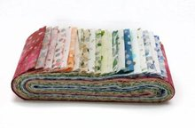 Kaufman Roll Up 2-1/2in Strips Bali Poppy's Spring 20pcs/bundle