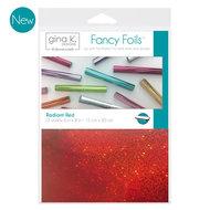 Radiant Red Fancy Foils Gina K Designs