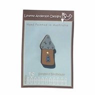 Songbird Birdhouse Blue Roof Button Pack - Lynette Anderson
